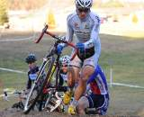 Adam Myerson is running here, but may need to hone his hopping skills. Natalia McKittrick, Pedal Power Photography, 2009