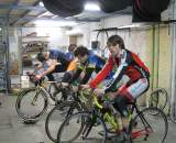 Basement training during crappy weather at the 2009/2010 camp. © Nathan Phillips