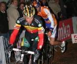 Nys and De Knegt led start to finish at Nacht van Woerden. © Bart Hazen