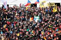 Crowds estimated at over 30,000 filled up the town of Hoogerheide for the 2009 Cyclocross Wolrd Championships.