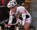Amy Dombroski, in her first World cup of the season, finished 13th in Zolder, Belgium 26 Dec, 2009.  ©Bart Hazen