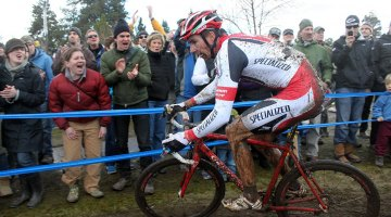 Here, Wells is riding to his third national title of the year- yesterday, he won $50,000 for bike trails.