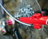 Redline gives you full housing or standard housing braze-ons choices for the rear derailleur. © Cyclocross Magazine