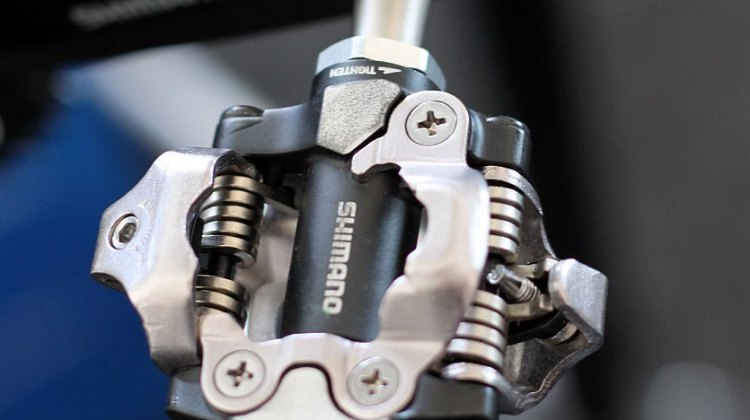 Shimano's Deore XT Pedals inherit the same enhancements and body options of the XTR line. © Cyclocross Magazine