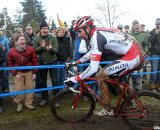 Wells riding to his third national title of the year. 2010 USA Cycling Cyclocross National Championships. file photo © Cyclocross Magazine
