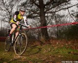 Here, Paul works to perfect his cyclocross form. This year, mountain biking will help him with that.