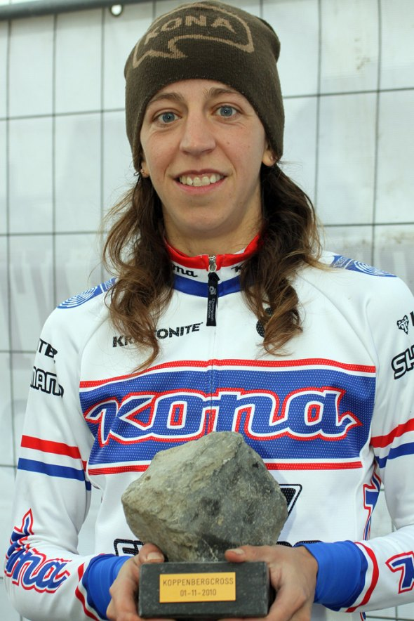 Helen Wyman, here at Koppenberg, will be racing in the US on the East Coast this Fall. Bart Hazen
