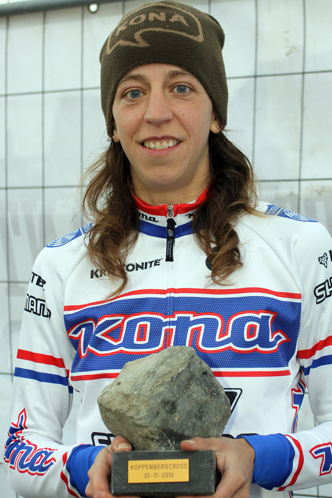 Helen Wyman, here at Koppenberg in 2010, has been racing for Kona for eight years.