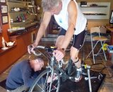 Lee gets a full bike fit to help his cyclocross season. Look carefully and do your research when picking a bike fitter. Photo courtesy of Clifford Lee