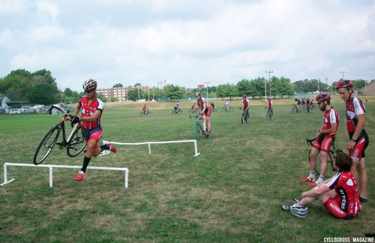 Practicing starts or barriers might be a good option for Tuesday if you have any energy. © Cyclocross Magazine