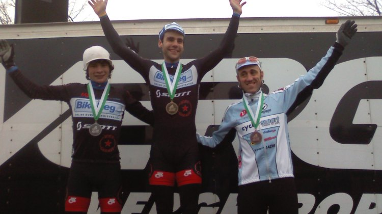 The Elite Men's Podium (L to R), Goguen, Lindine, Myerson ©Lodrina Cherne