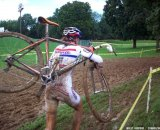 Helen Wyman developed a gap early and held it. Cyclocross Magazine