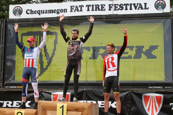 The men's podium at Chequamegon.  © Amy Dykema