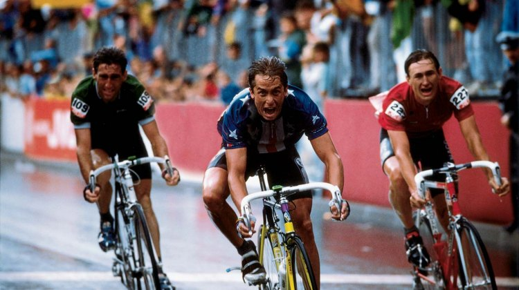 Greg LeMond, shown hear winning Road Worlds, will be hitting the dirt in Hood River