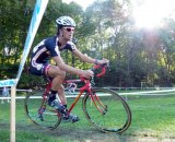 Dan Chabanov takes a corner on his Richard Sachs bike. © Cyclocross Magazine