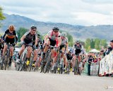 Jeremy Powers (Rapha/Focus) takes the holeshot at USGP Fort Collins.