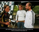 Mitch Graham with Katie Compton at Harbin Park in 2007. Julie Black