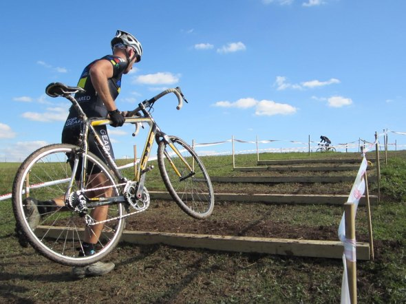 Riders take the run up on a beautiful day of ABRA CX. Keith Hower