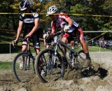Trouble in the sandpit at Nanaimo Cyclocross. Rob Parkin