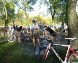 A muddy day means the pressure washers are going full steam in the pit. © Cyclocross Magazine