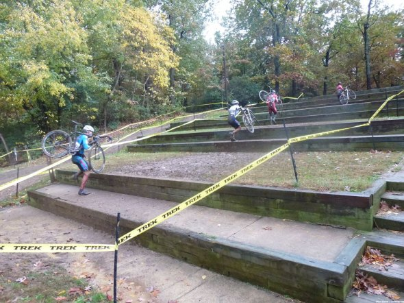 Richey makes his way up the ampitheater of pain at Beacon Cyclocross. © Cyclocross Magazine