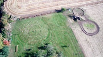 It may look like crop circles, but this is just one aerial view of the course. Allen Pomraning of Aazod Flight Systems