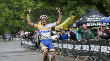 Bart Wellens winning the 2011 Rapha-Focus GP