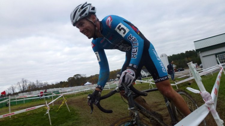 Richey takes the off-camber at Downeast Day 2, where he finished fourth. Cyclocross Magazine