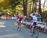 Keough sails in to victory after sprinting McNicholas at CSI Day 1. Cyclocross Magazine