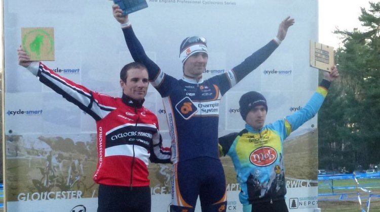 Men's Podium, Day 2 at Cycle-Smart International. Cyclocross Magazine