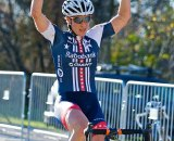 Katie Compton takes the win on day one of the Cincy3 Festival. Jeffrey Jakucyk