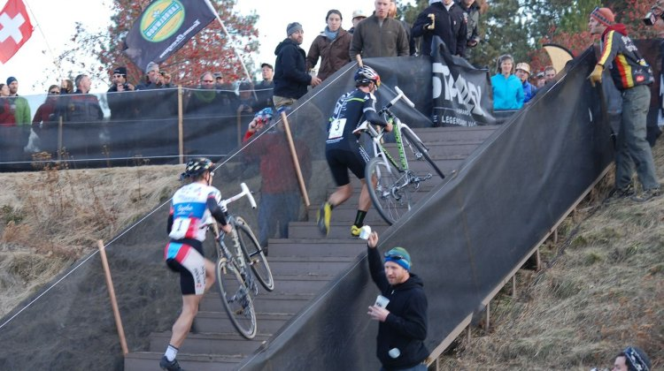 Johnson and Powers attacking the stairs © R Alan Kuehn