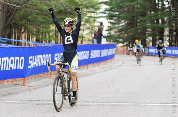An emphatic win for Andrea Smith. © Natalia Boltukhova | Pedal Power Photography