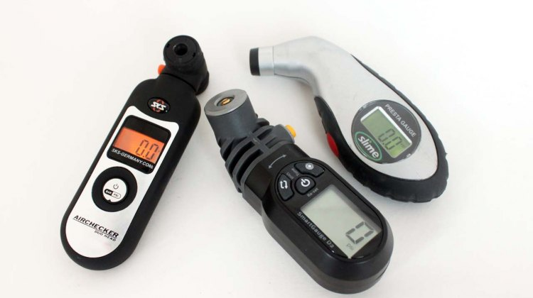 Tire pressure gauges from SKS, Topeak and Slime. ©CXMagazine.com