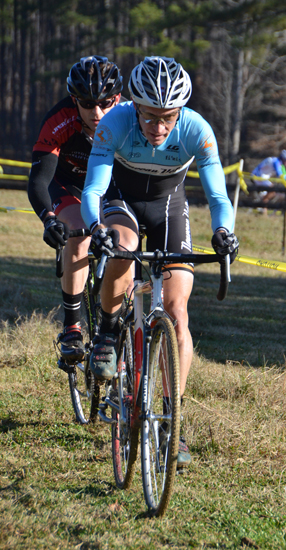 A rider focuses hard on the course. Trish Albert/Southeasterncycling.com