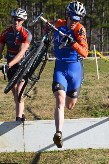 Taking the barriers at Georgia Cyclocross. Trish Albert/Southeasterncycling.com