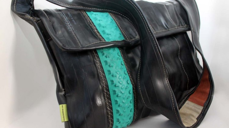 Totally Tubular bag, here with the very recognizable green Michelin Mud! ©Cyclocross Magazine