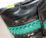 Lauren Junker makes the ultimate gift for cyclists and cyclocrossers - bags from recycled tubes. © Cyclocross Magazine