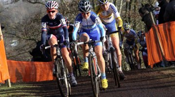 Katerina Nash and Caroline Mani lead a race. Bart Hazen