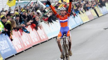 Mathieu van der Poel takes his first ever World title. Bart Hazen