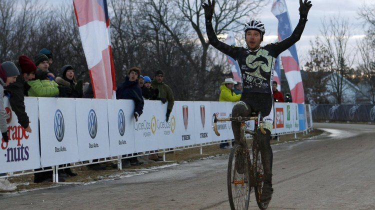 Aaron Bradford wins 2012 Singlepseed Cyclocross National Championships © Tim Westmore