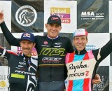 A familiar sight on U.S. cyclocross podiums: Johnson, Trebon and Powers. ©Jeffery Jakucyk