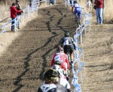 Compton hit the first hill with a massive lead. 2012 Cyclocross National Championships, Elite Women. © Cyclocross Magazine