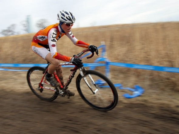 Gage Hecht took a commanding win in the Junior 13-14 men's race. © Cyclocross Magazine