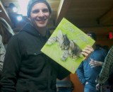 Dylan McNicholas at his celebratory shindig with his new cat calendar. Aww!