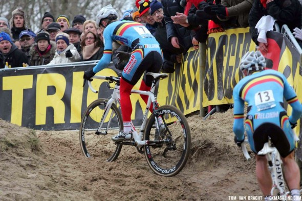 Pauwels leads Nys and the Belgian chase. ©Thomas van Bracht