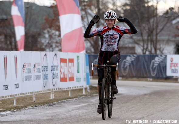 Kari Studley wins the 2012 Women's Singlespeed Cyclocross National Championships © Tim Westmore