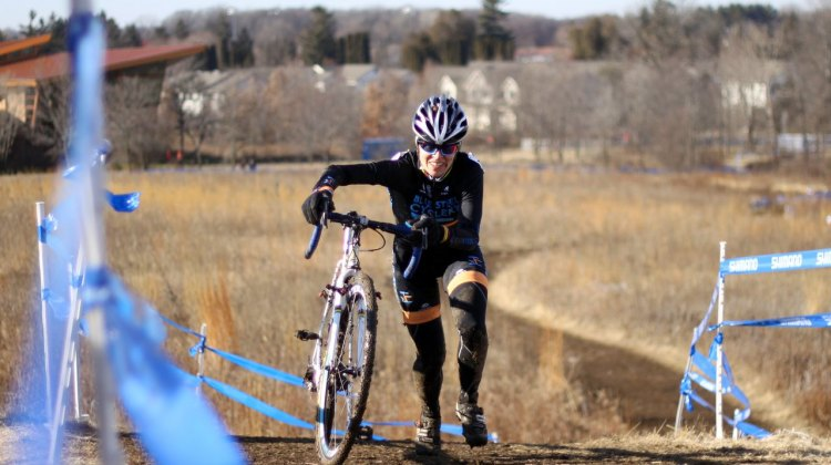 Kathy Sarvary wins yet another Masters Cyclocross National Championship. © Cyclocross Magazine