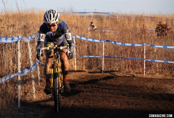 Paul Curley in control in the Masters 55-59 national championship. © Cyclocross Magazine