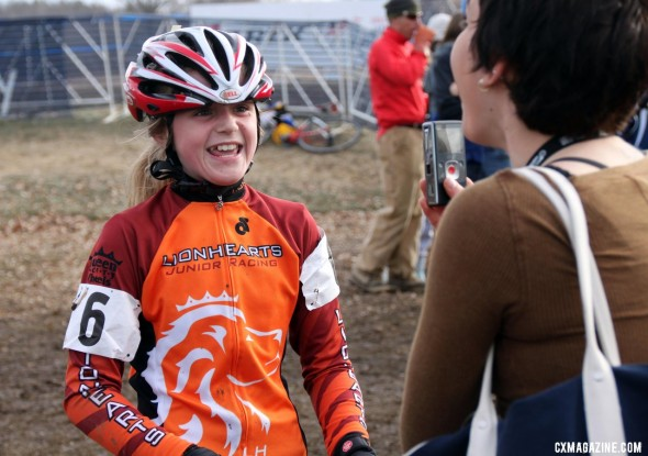 Sydney Lach wins the Junior Women 10-12, 2012 Cyclocross National Championships. © Cyclocross Magazine